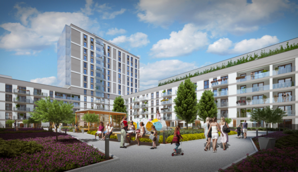 Wiecha na Rondzie Wiatraczna Dom, LIFESTYLE - Inwestor Dantex oraz generalny wykonawca projektu Rondo Wiatraczna – firma UNIBEP, zawiesiły wiechę na wielofunkcyjnym kompleksie, powstającym na warszawskim Grochowie.